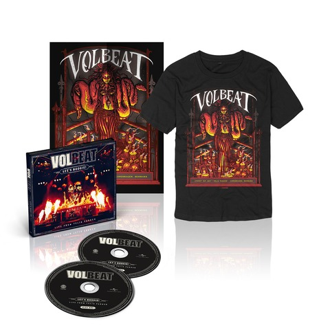 Let's Boogie! Live (CD/T-Shirt/Poster Bundle) von Volbeat - CD jetzt im Subway To Sally Shop