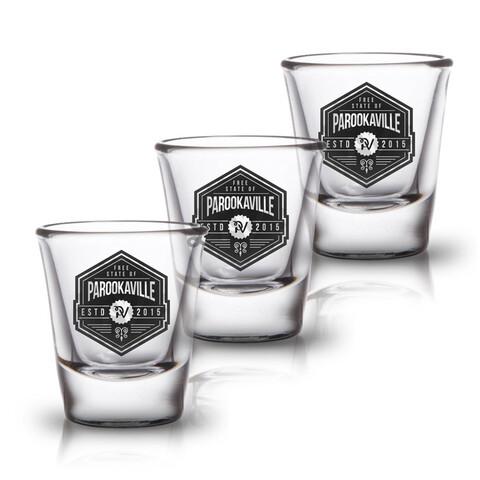 √Free State of von ParookaVille Festival - 3er Set Shot Glas jetzt im Subway To Sally Shop