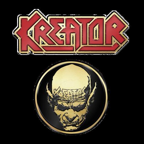√Skull n Logo von Kreator - 2er Pin Set jetzt im Subway To Sally Shop