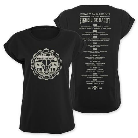 √10 Jahre Eisheilige Nacht von Subway To Sally - Girlie Shirt jetzt im Subway To Sally Shop