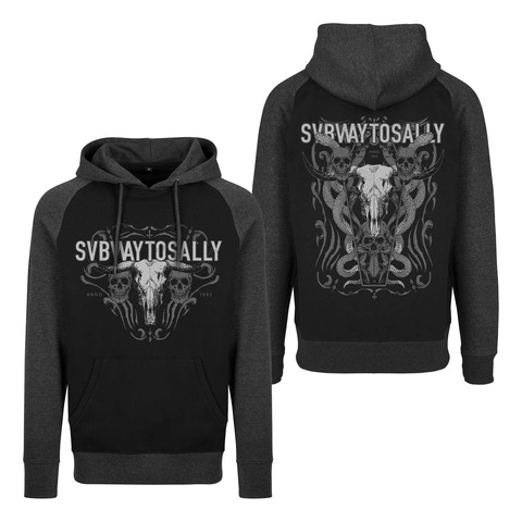 √Snake Skull von Subway To Sally - Hood sweater jetzt im Subway To Sally Shop