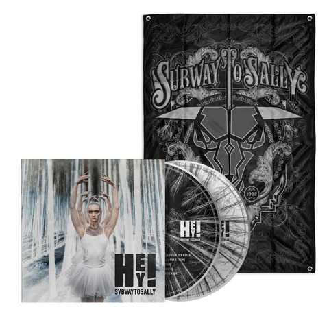 HEY! (Bundle CD/DVD - Limited Fan Edition + Flagge) von Subway To Sally - CD jetzt im Subway To Sally Shop